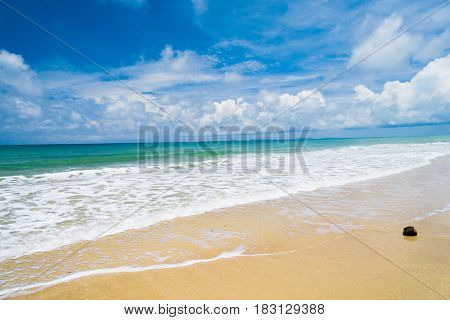 Stormy Scene White Sand