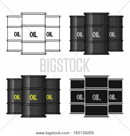 Oil barrel icon in cartoon style isolated on white background. Money and finance symbol vector illustration.