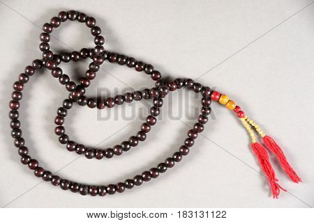 Beijing, China - 15 May 2014: Necklace of the traditional Chinese theater