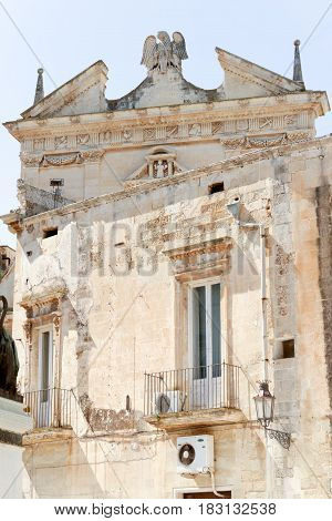 very nice view of lecce a beautiful town in italy