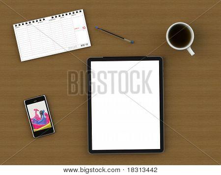workspace writing desk