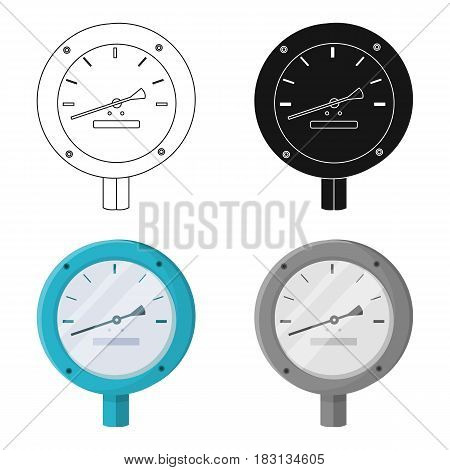 Oil manometer icon in cartoon style isolated on white background. Oil industry symbol vector illustration.