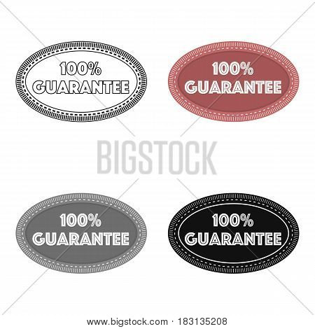 Guarantee label icon in cartoon style isolated on white background. Label symbol vector illustration.