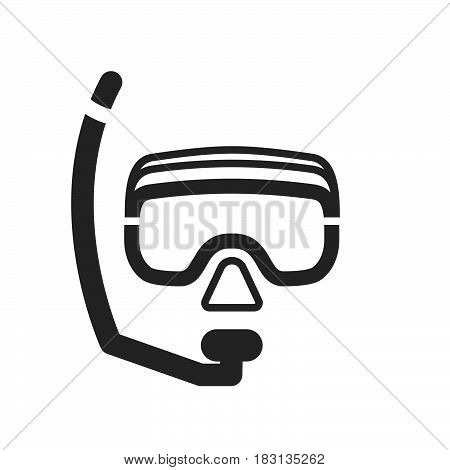 Diving mask icon isolated on white background .