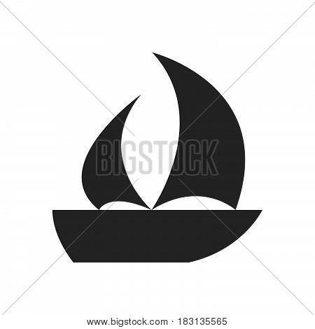 sailing ship icon isolated on white background .
