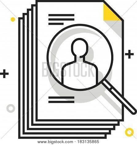 Color Box Icon, Head Hunting Illustration, Icon