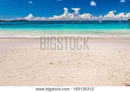 Beautiful beach at Seychelles, Praslin, Anse Lazio