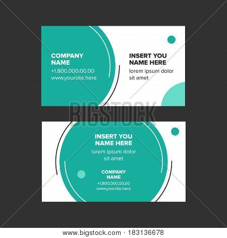 double side minimalist style business card with circle elements