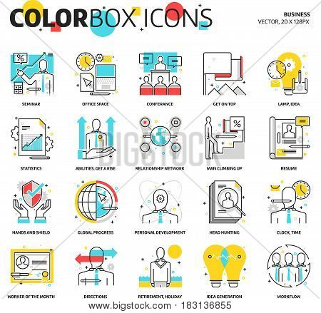 Color Box Icons, Busniness Illustrations, Icons