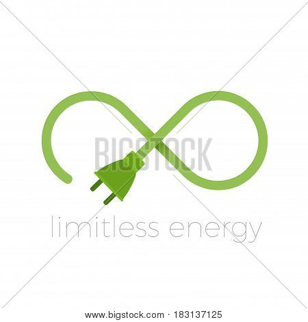 Vector abstract infinite limitless energy, isolated illustration