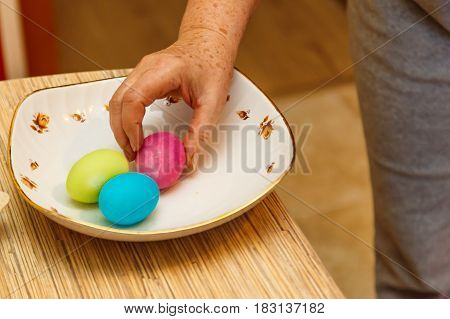 Painting Easter Eggs At Home Before Easter