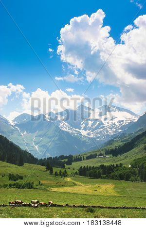Beautiful Landscape With Alps In Nationalpark Hohe Tauern, Salzburger Land, Austria