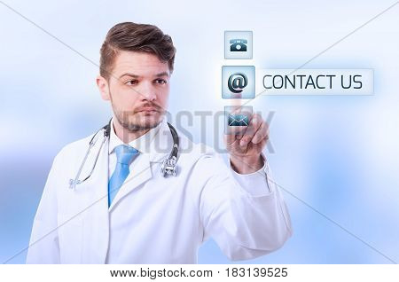 Young Doctor Press Contact Us Button
