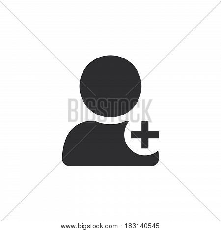 Add User Icon Vector, Solid Logo Illustration, Pictogram Isolated On White