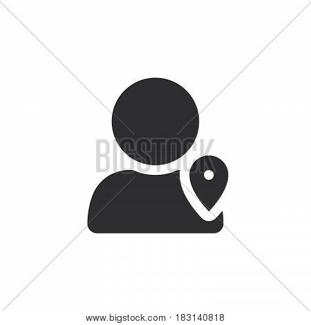 User Location Icon Vector, Solid Logo Illustration, Pictogram Isolated On White