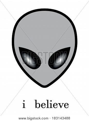 alien i believe ufo  concept life hide