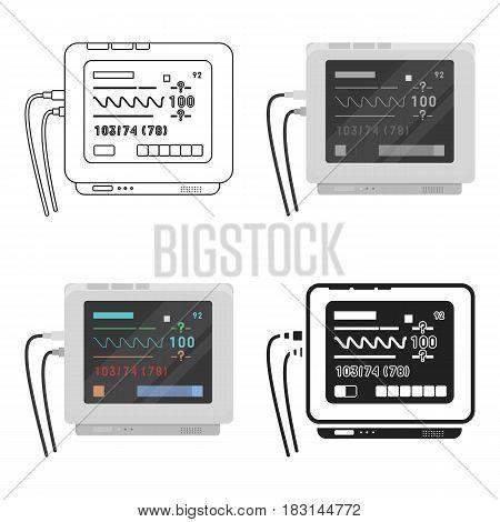 Ecg machine icon cartoon. Single medicine icon from the big medical, healthcare cartoon.