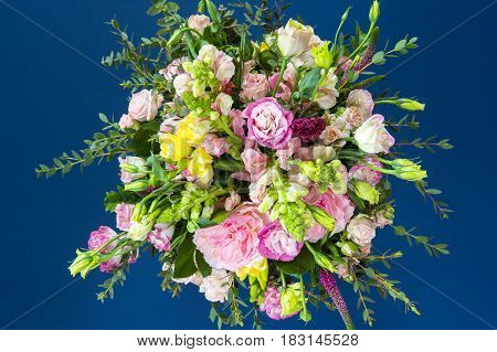 Spring slower in beautiful bouquet with empty area for your text or design