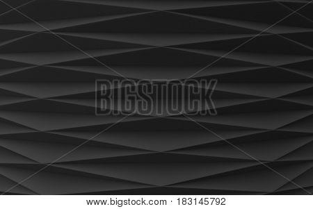 black folded surface