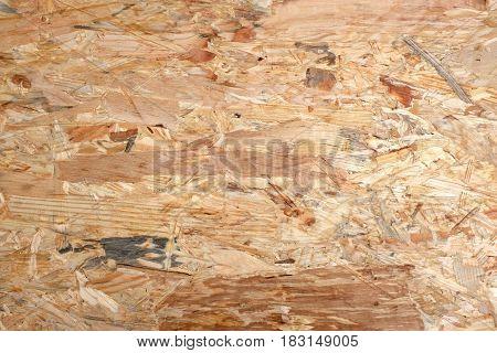 Irregular Wooden Background Of Flakeboard