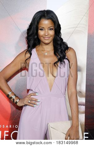 Claudia Jordan at the Los Angeles premiere of 'Unforgettable' held at the TCL Chinese Theatre in Hollywood, USA on April 18, 2017.