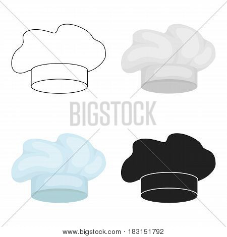 Chef's Hat icon in cartoon style isolated on white background. Hats symbol vector illustration.
