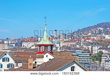 The Roofs And Towers Of Zurich