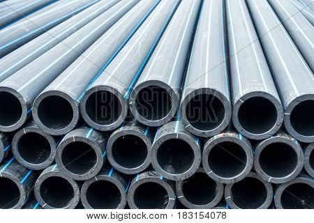 HDPE potable pipe HDPE pipeline Storage of HDPE pipe HDPE pipe.