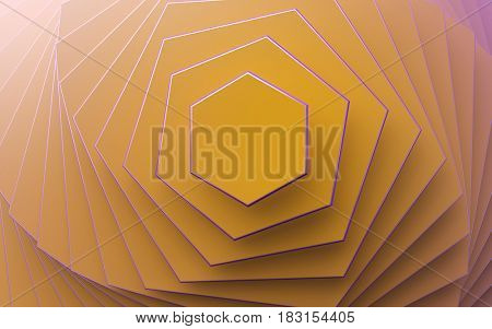 yellow background of different scale hexagons