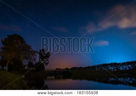 Whittle Dene Reservoir at Night - Whittle Dene Reservoir in Northumberland is a popular place for fishing seen here at night under the stars