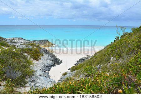 Wild Beach On Bahamas