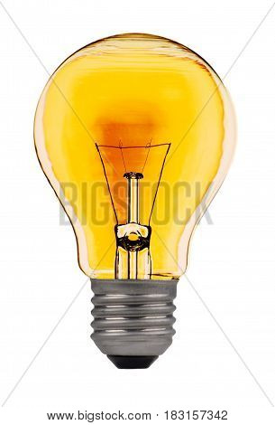 Bulb yellow isolated on a white background