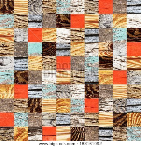 Seamless background with wooden patterns of different colors. Endless texture can be used for wallpaper, pattern fills, web page background, surface textures