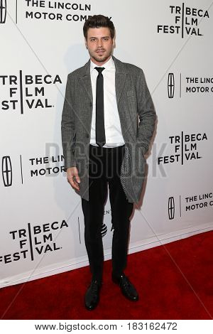 NEW YORK-APR 22: Francois Anaud attends the 'Permission' screening at SVA Theatre during the 2017 TriBeCa Film Festival on April 22, 2017 in New York City.