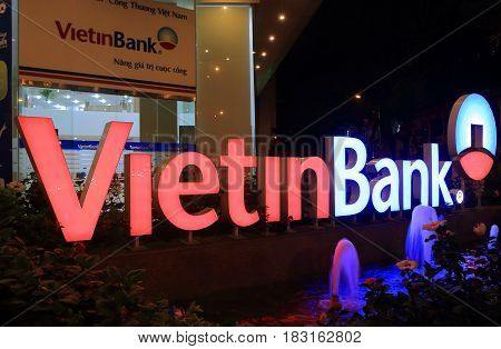 HO CHI MINH CITY VIETNAM - NOVEMBER 28, 2016: Vietinbank. Vietinbank is a state-owned Vietnamese bank founded in 1992