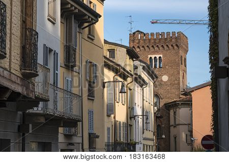 Monza (Brianza Lombardy Italy): historic buildings along via Lambro