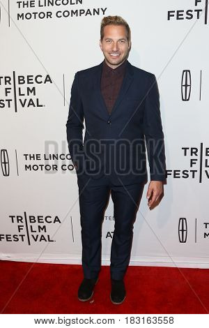 NEW YORK-APR 22: Ryan Hansen attends the 'Literally, Right Before Aaron' screening at SVA Theatre during the 2017 TriBeCa Film Festival on April 22, 2017 in New York City.
