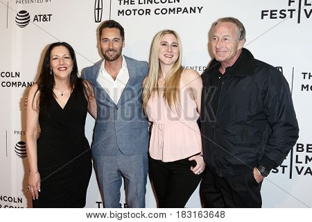 NEW YORK-APR 22: (L-R) Karen, Ryan, Nicole and Jim Eggold attend the 'Literally, Right Before Aaron' screening at SVA Theatre at  the 2017 TriBeCa Film Festival on April 22, 2017 in New York City.