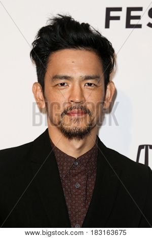 NEW YORK-APR 22: John Cho attends the 'Literally, Right Before Aaron' screening at SVA Theatre during the 2017 TriBeCa Film Festival on April 22, 2017 in New York City.