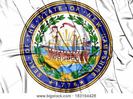 State Seal Of New Hampshire, Usa.
