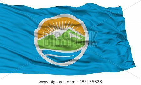 Isolated Provo City Flag, City of Utah State, Waving on White Background, High Resolution