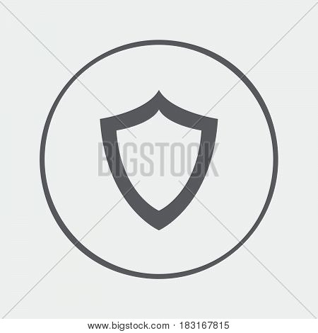 shield icon isolated on white background .
