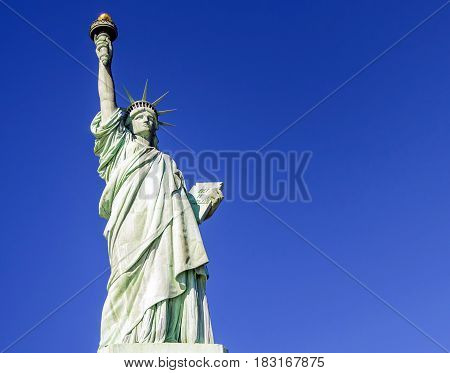 Statue of Liberty on January 30 2016. Statue of Liberty is one of the most recognizable landmarks of New York City.