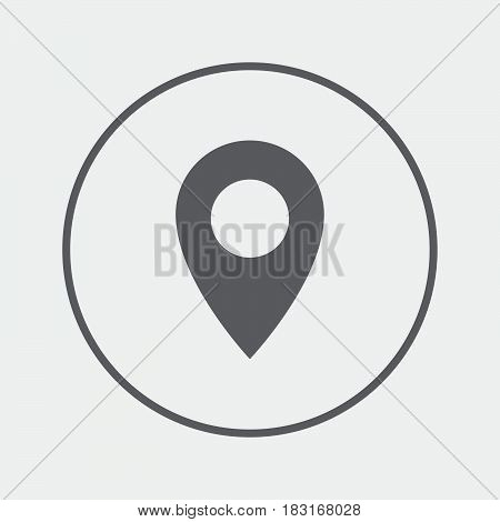 Map pointer icon. GPS location symbol. Flat design style.