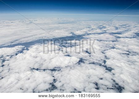 Cloudy Skies Over Europe Pictured From High Altitude