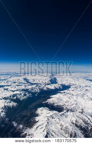 View Over The Alps