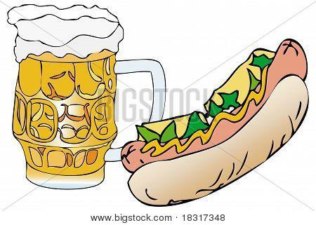 Sandwich With Beer Mug
