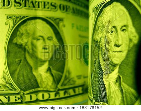Money 2 denominations costing on a table