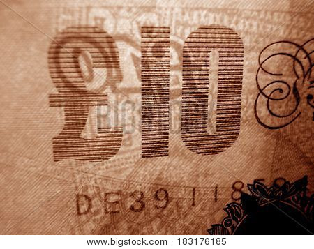 The a banknote face value 10 euro