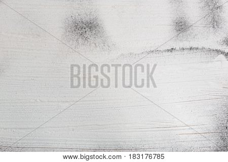 Stained rude painted white wooden background without seams